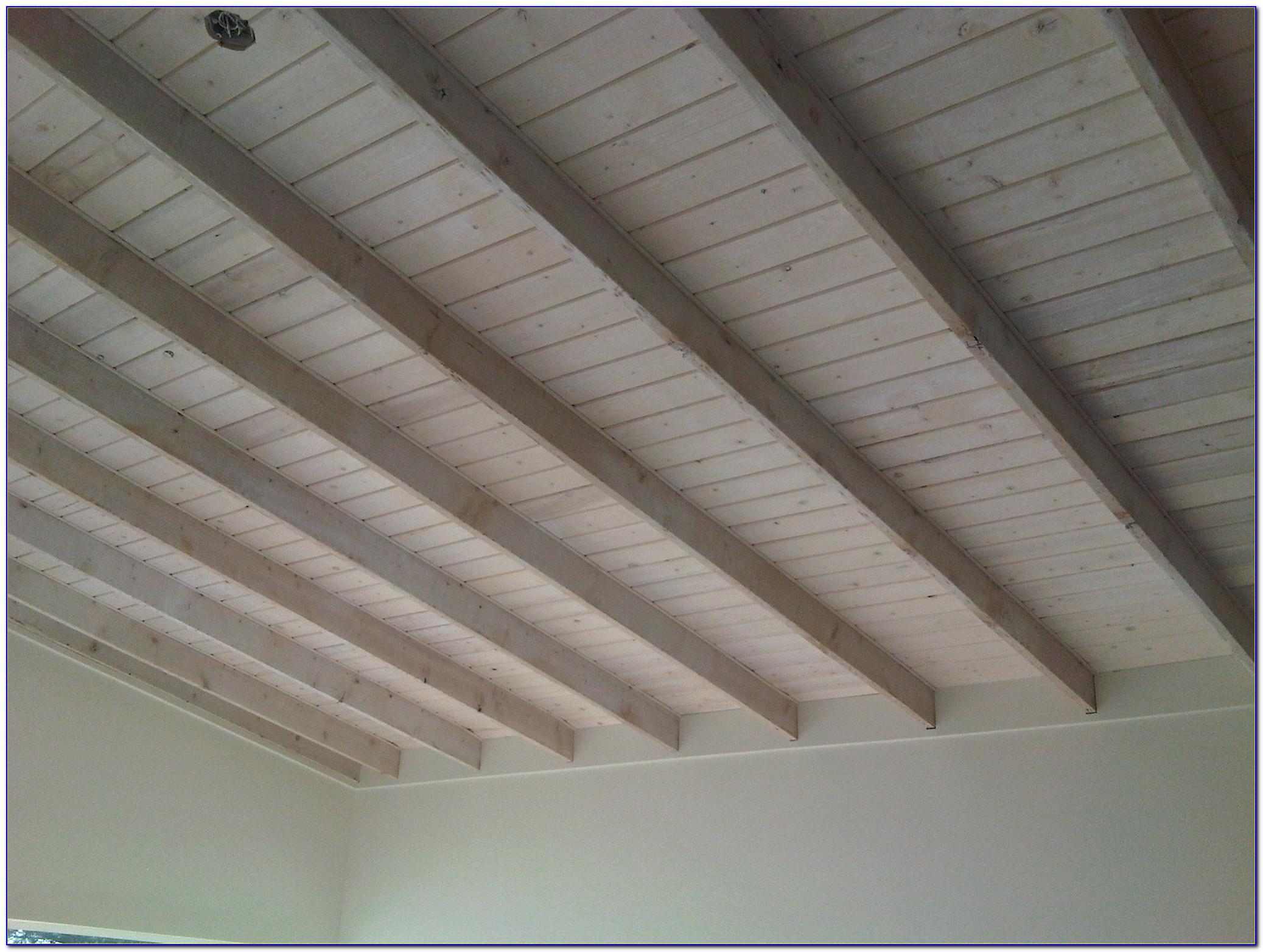 White Wash Ceiling Planks