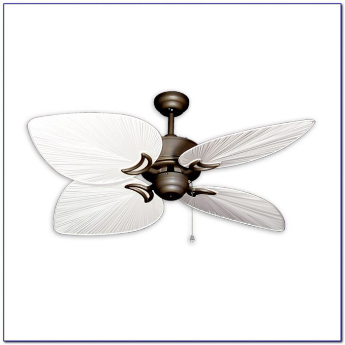 White Wicker Outdoor Ceiling Fan