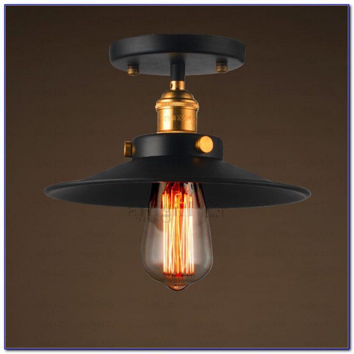 Wrought Iron Flush Ceiling Lights