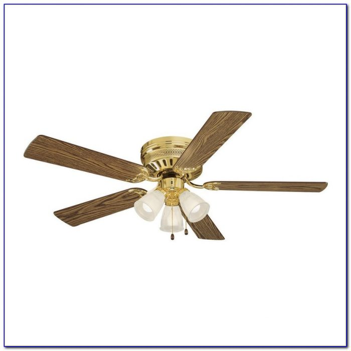 Brass Ceiling Fans Without Lights