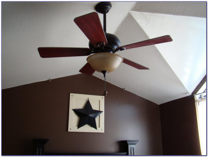 Ceiling Fan Installation Sloped Ceiling