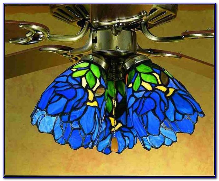 Ceiling Fan Stained Glass Light Kit