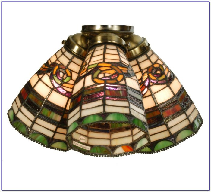 Ceiling Fan Stained Glass Shades