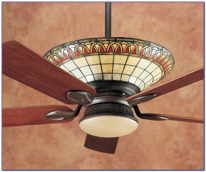 Ceiling Fan With Stained Glass Light Fixture