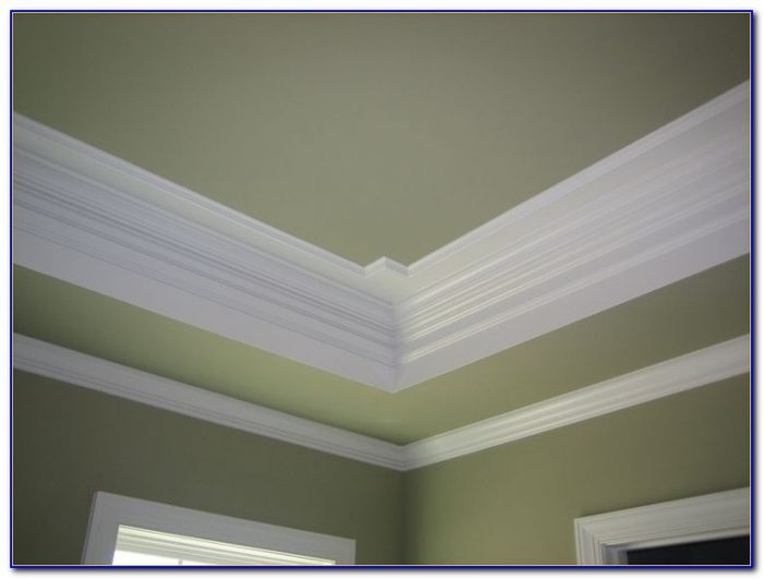 Crown Molding Against Drop Ceiling Ceiling Home Design