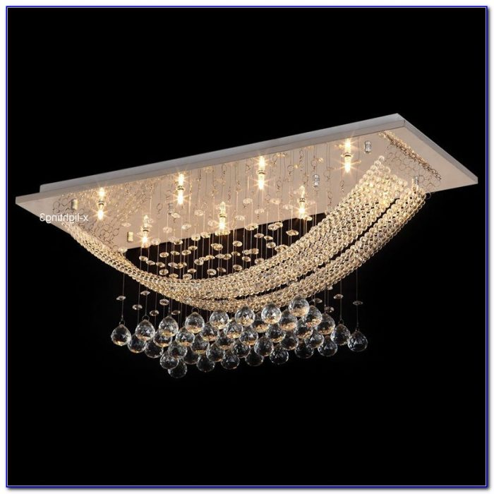Crystal Ceiling Mount Light Fixture