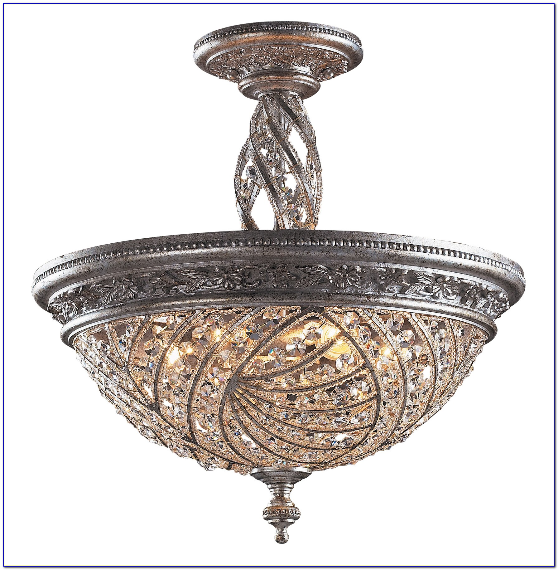Crystal Ceiling Mount Light Fixtures