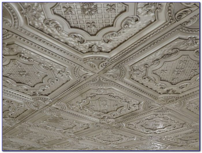 Faux Tin Ceiling Panels