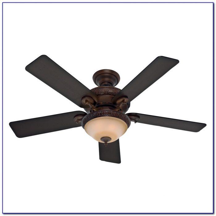 Hunter Flush Mount Ceiling Fan With Light