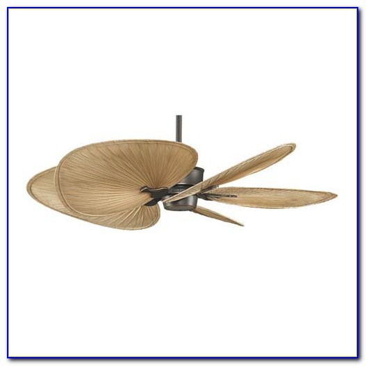 Palm Blade Ceiling Fan With Light