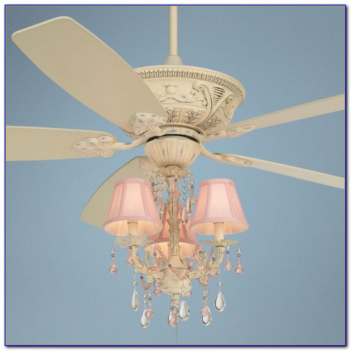 Pink Chandelier Ceiling Fan Light Kit
