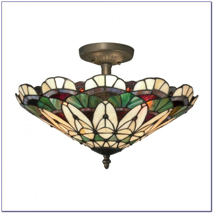 Tiffany Semi Flush Ceiling Lights