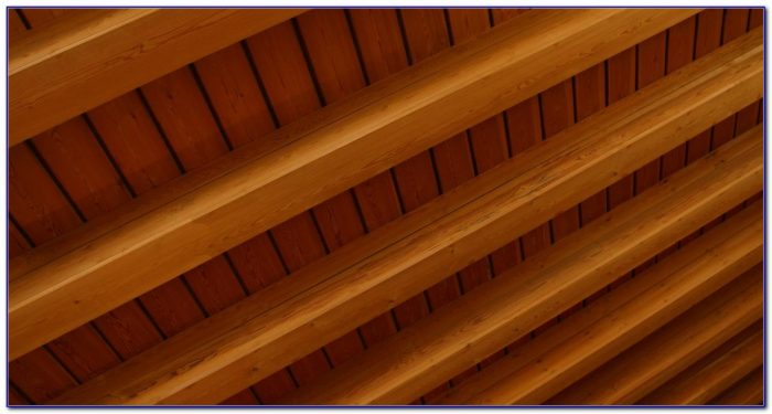 Wooden Beams Vaulted Ceiling