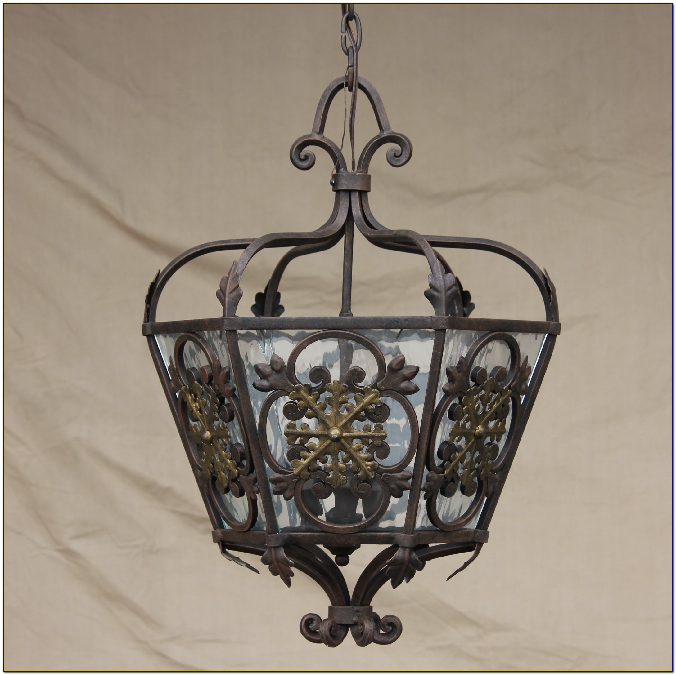 Wrought Iron Ceiling Fixture