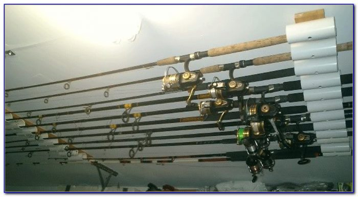 Ceiling Fishing Rod Rack Diy