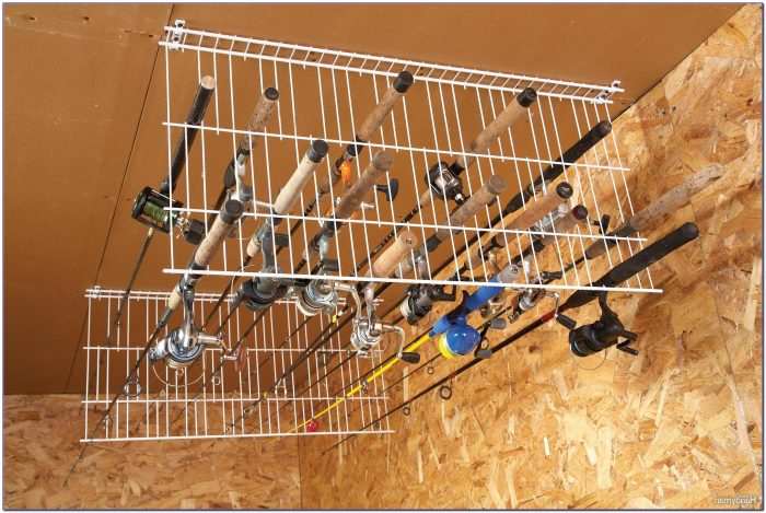 Ceiling Fishing Rod Rack Template