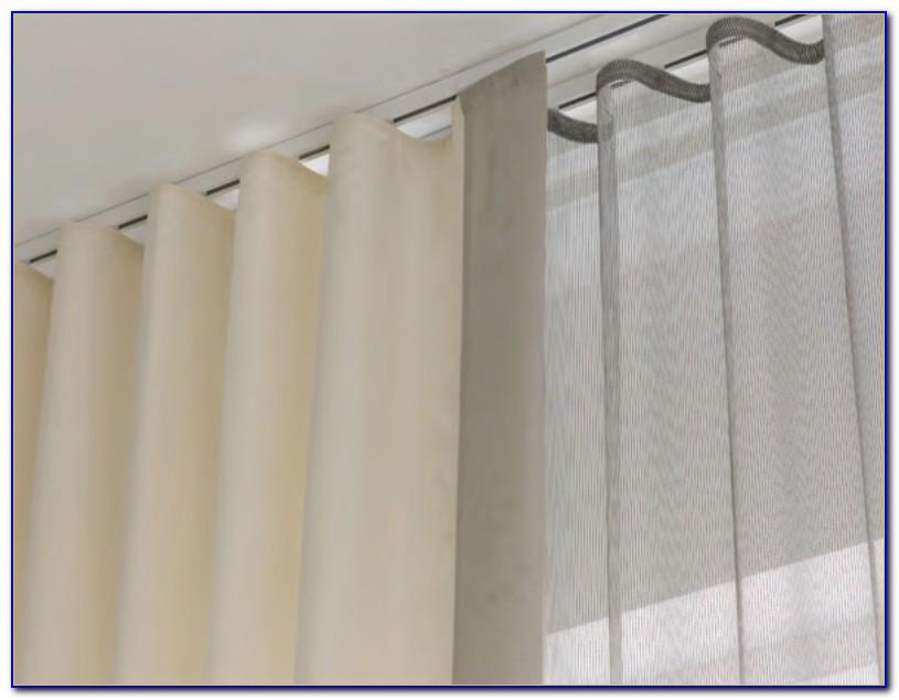 Curtains On Tracks Ceiling