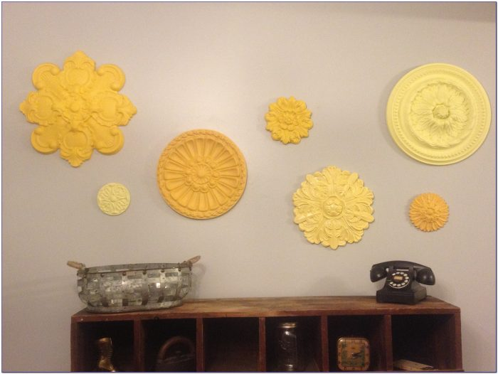 Diy Ceiling Medallions As Wall Art