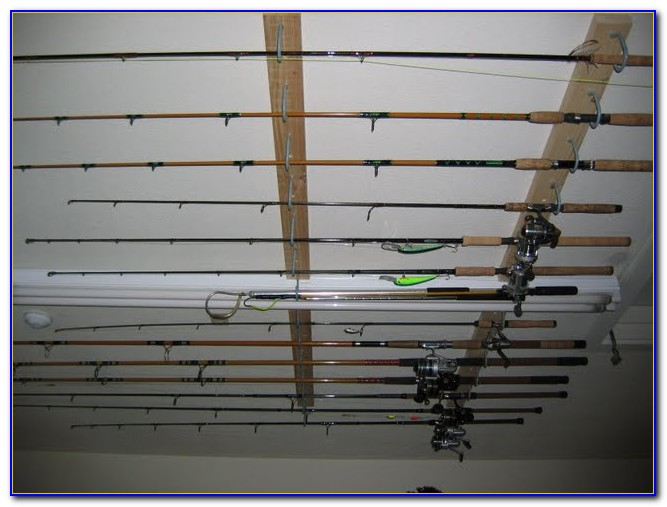 Garage Ceiling Fishing Rod Holder