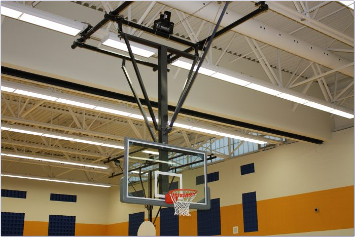 Ceiling Mounted Retractable Basketball Hoops Ceiling