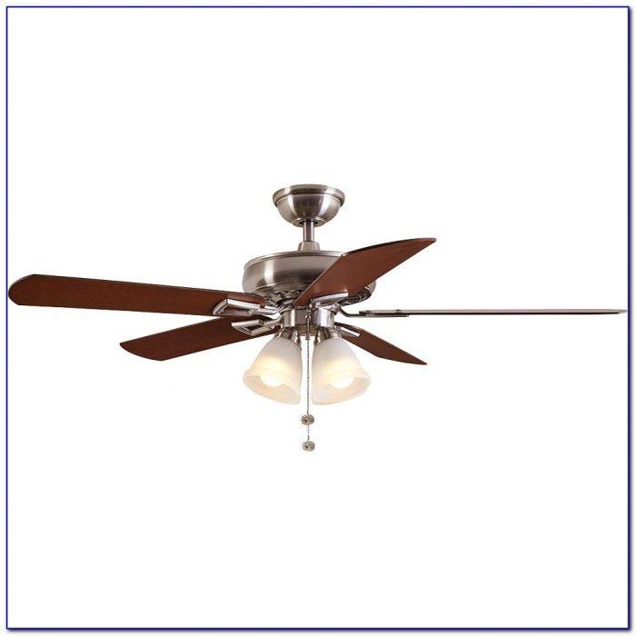 Hampton Bay Mercer Brushed Nickel Ceiling Fan