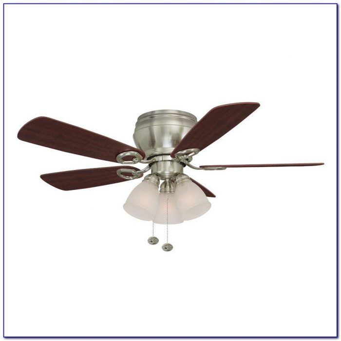 Hampton Bay Pilot Blade Ceiling Fan In Brushed Nickel Finish