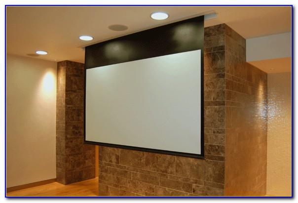 Hang Projector Screen From Drop Ceiling