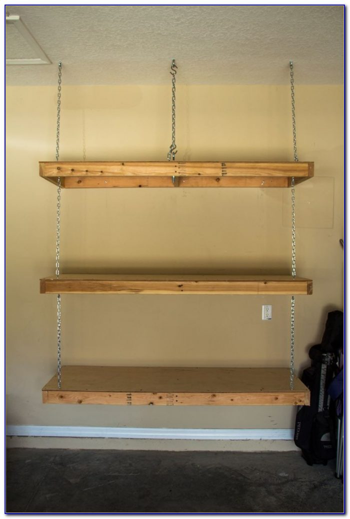 Hanging Shelves From Garage Ceiling