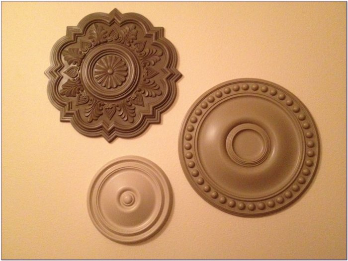 How To Hang Ceiling Medallions As Wall Art