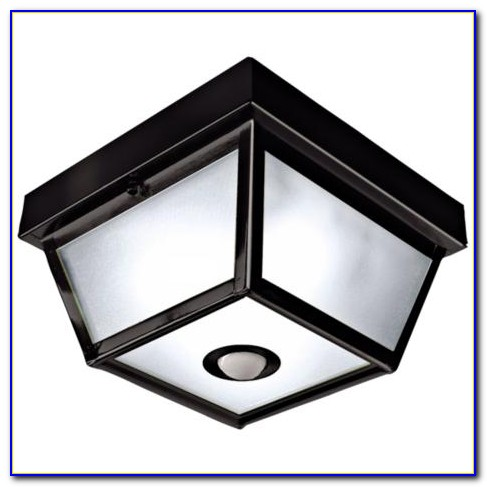 Outdoor Flush Mount Ceiling Light Motion Sensor