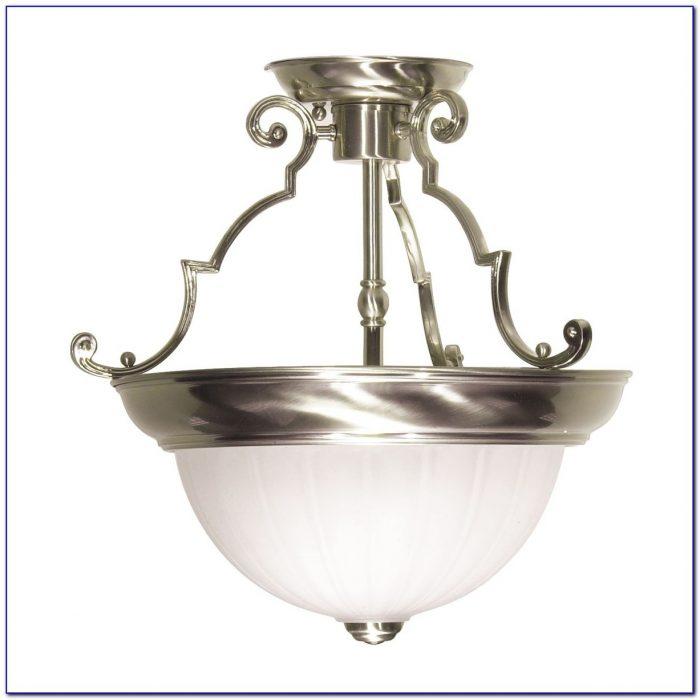 Semi Flush Glass Ceiling Light