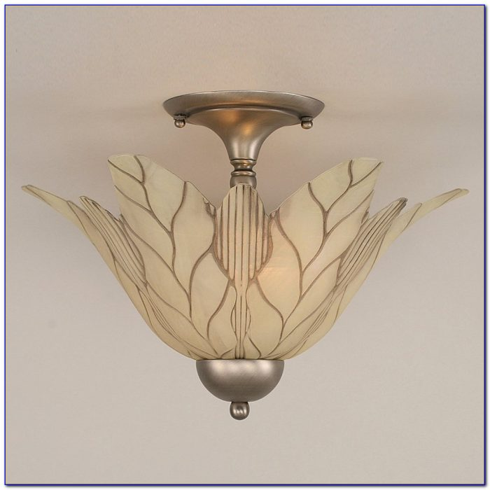 Stained Glass Semi Flush Ceiling Lighting