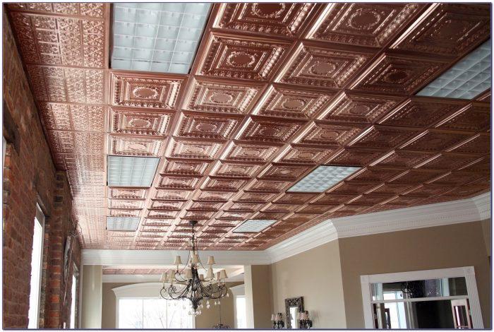 Stamped Metal Ceiling Panels