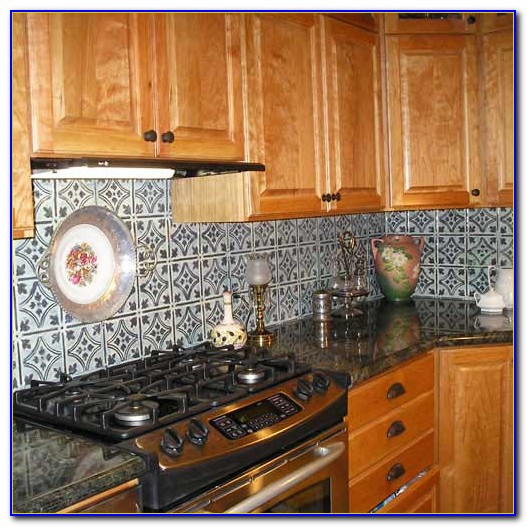 Tin Ceiling Tiles As Backsplash
