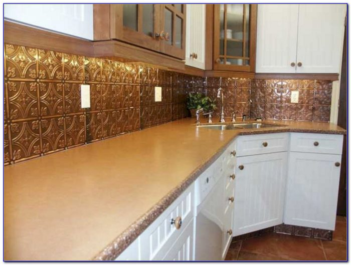 Tin Ceiling Tiles As Kitchen Backsplash