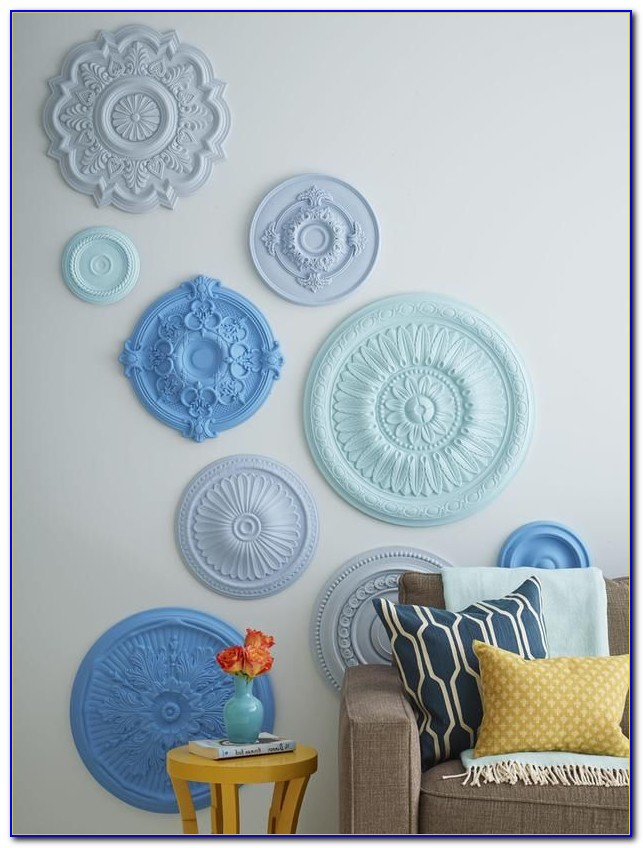 Using Ceiling Medallions As Wall Art