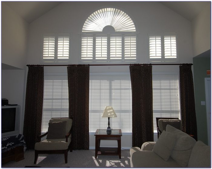 Window Treatments For High Ceiling Family Room
