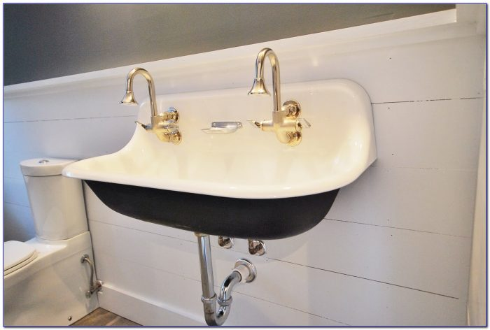 Two Faucet Trough Sink Two Faucet Trough Sink Bathroom Charming Double Trough Sink For Best Bathroom Sink 1600 X 1071