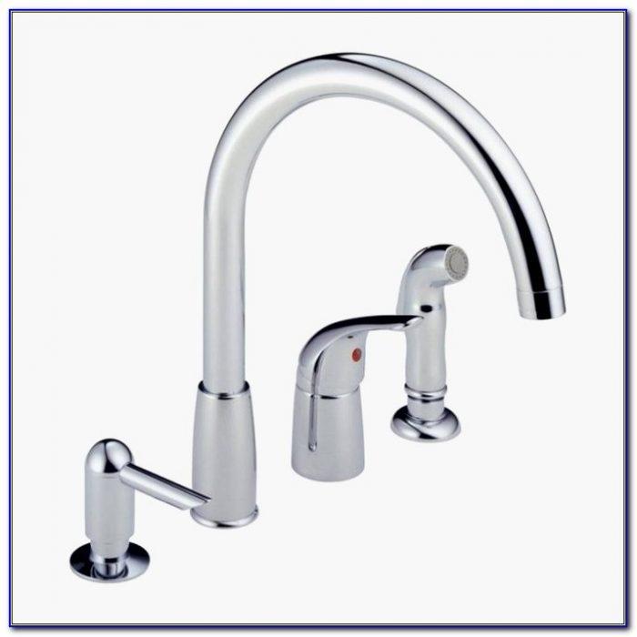 4 Piece Kitchen Faucet Beautiful Kitchen Delta Kitchen Faucets Lowes 4 Hole Kitchen Faucet Lowes