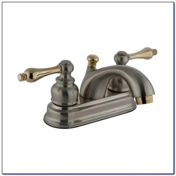 Antique Brass Bathroom Faucet Centerset