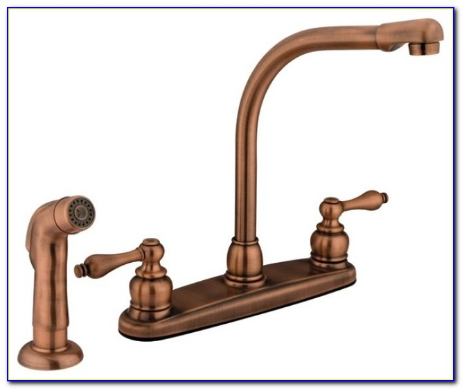Antique Copper Kitchen Faucet Pull Out
