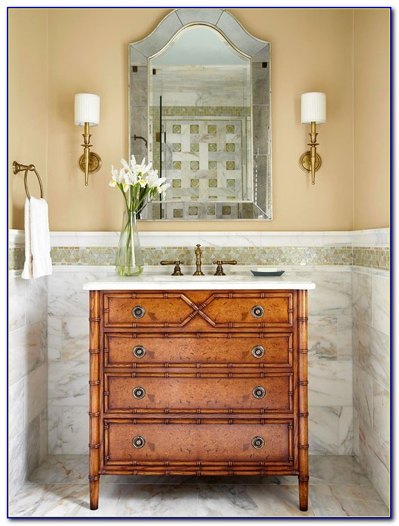 Antique Dresser As Bathroom Vanity