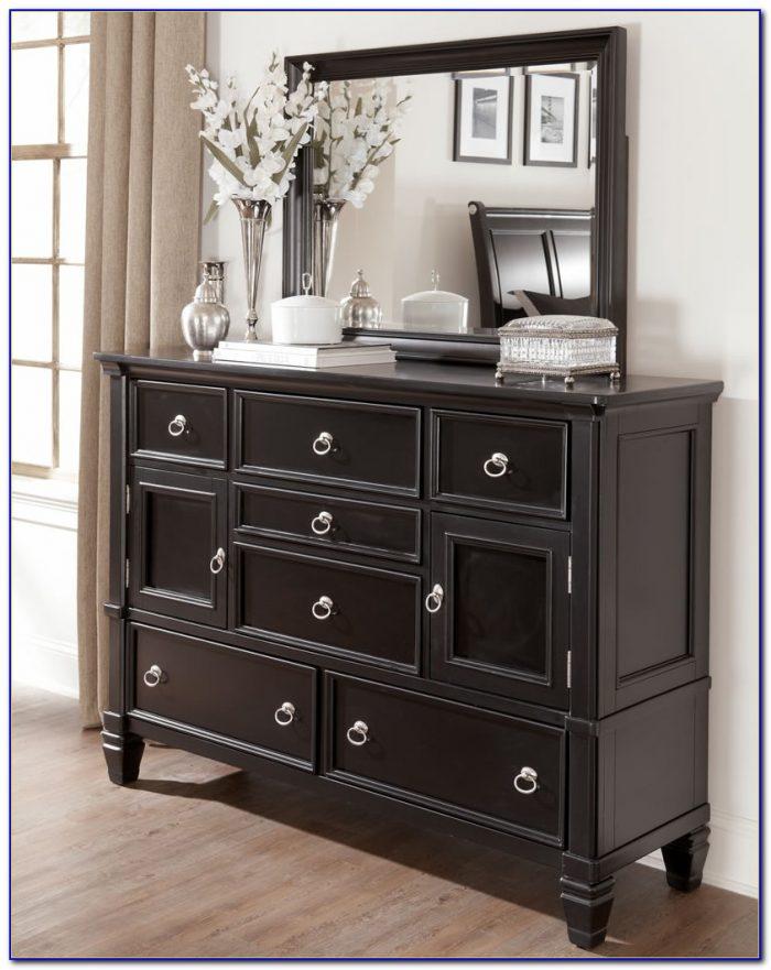 Ashley Furniture Black Dresser With Mirror