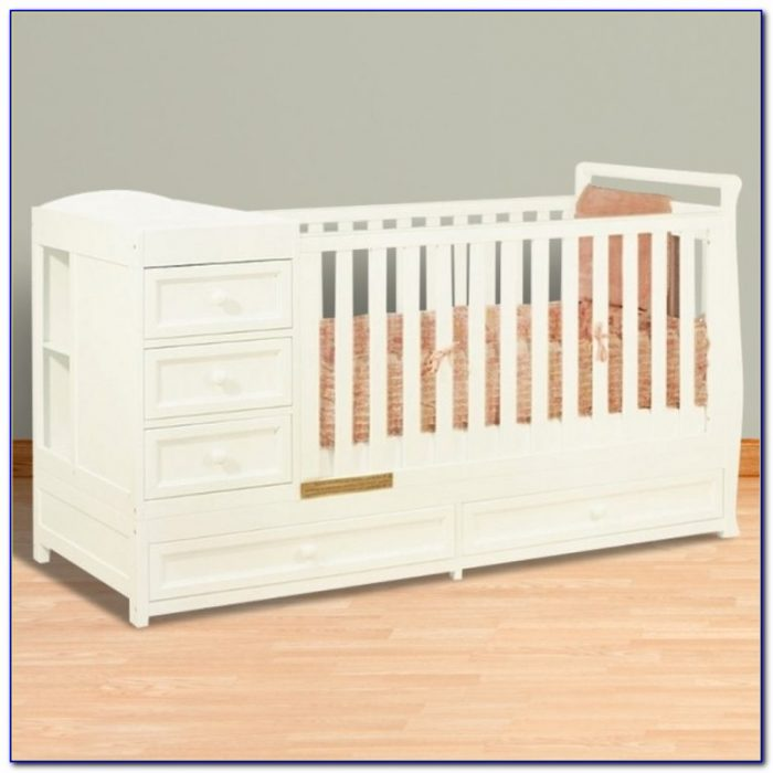 Afg Athena Daphne I 2 In 1 Convertible Crib And Changer Combo In Within Crib Dresser Changing Table Combo