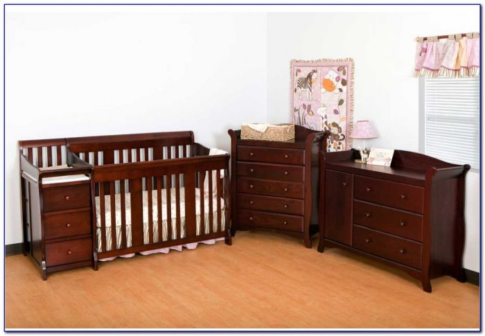 Baby Crib And Dresser Set