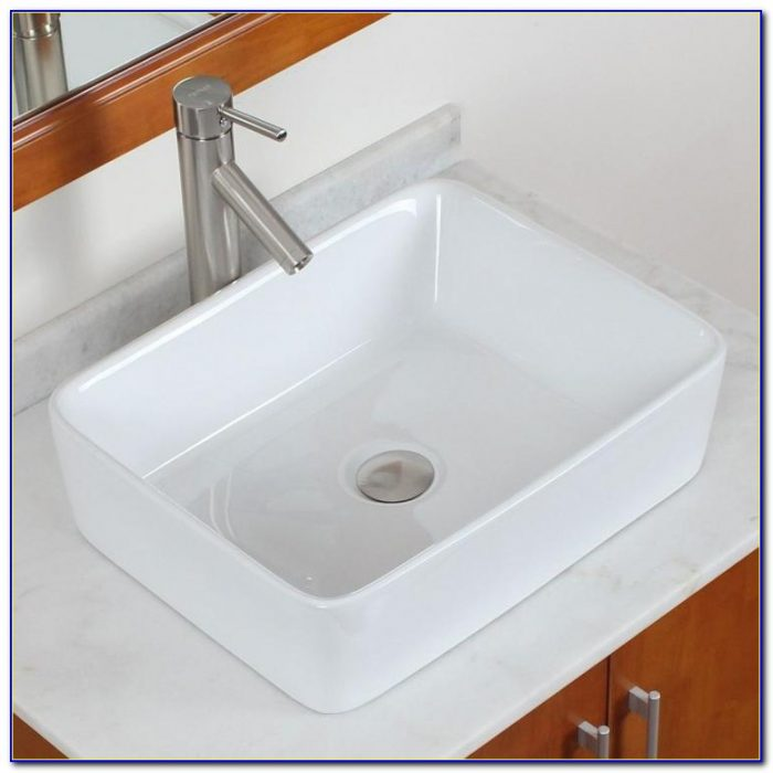 Bathroom Pedestal Tempered Clear Glass Vessel Sink & Vanity With Faucet Combo