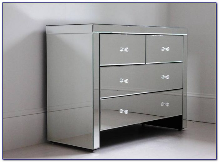 Black Dresser With Mirrored Drawers