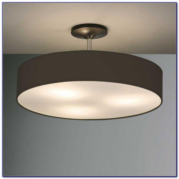 Black Industrial Flush Ceiling Light