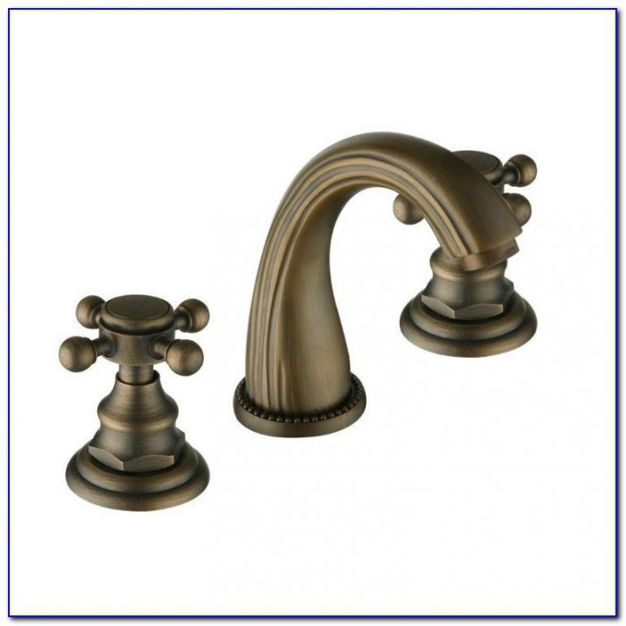 Brass Bathroom Sink Faucet Widespread
