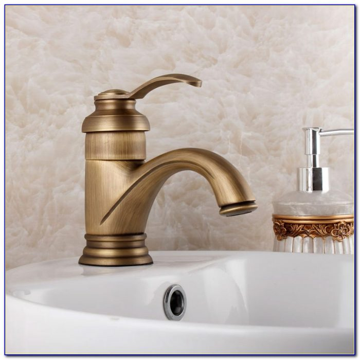 Brushed Copper Bathroom Faucets
